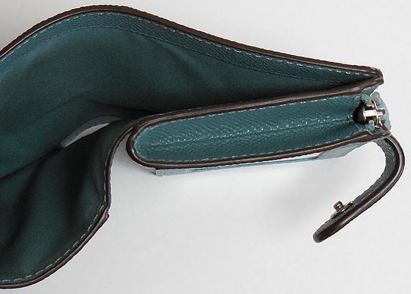 コーチ 二つ折り財布27968薄緑 札入れ