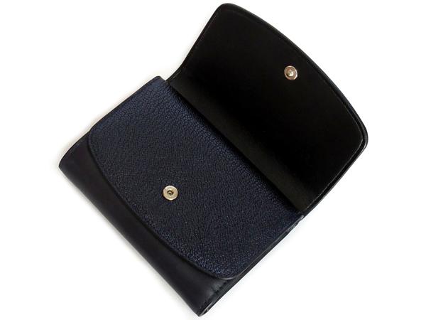 コーチ 三つ折り財布53852紺 フラップ