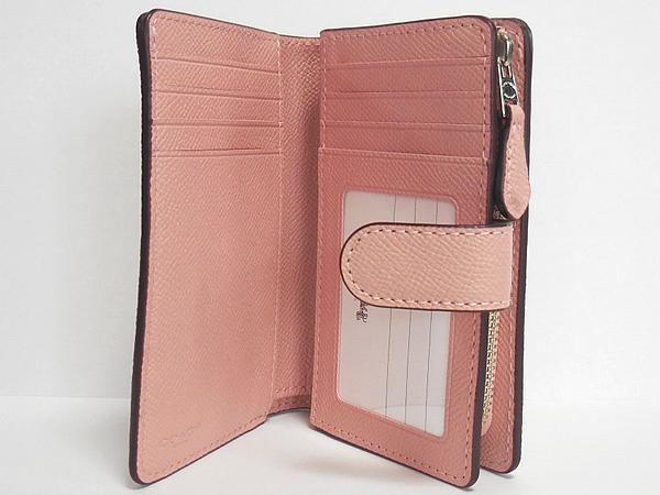 コーチ 二つ折り財布F11484ピンク 内装