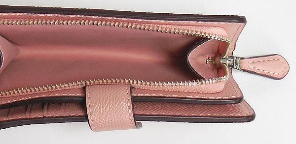 コーチ 二つ折り財布F11484ピンク 小銭入れ