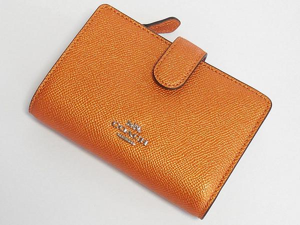 コーチ 二つ折り財布F23256オレンジ