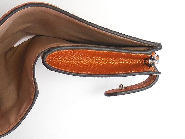 コーチ 二つ折り財布F23256オレンジ 札入れ