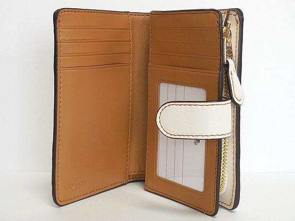 コーチ 二つ折り財布F29439白 カード入れ