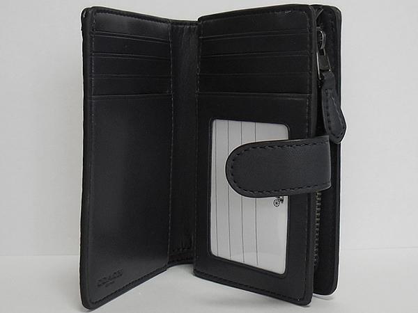コーチ 二つ折り財布F39172チャコール カード入れ