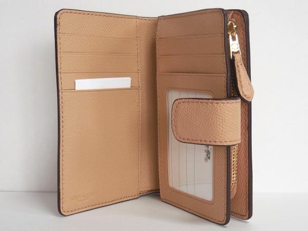 コーチ 二つ折財布F54010ベージュ 内装