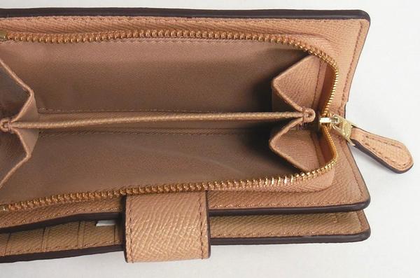 コーチ 二つ折財布F54010ベージュ 小銭入れ
