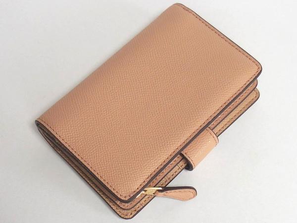 コーチ 二つ折財布F54010ベージュ 背面