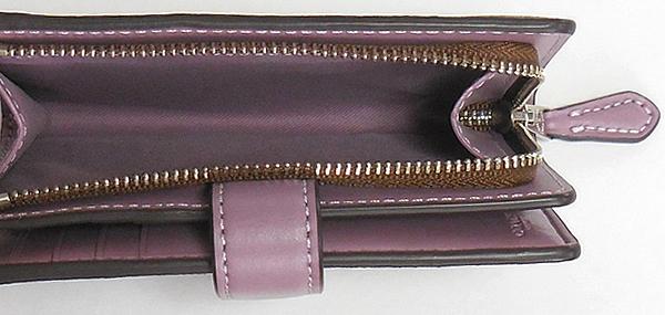 コーチ 二つ折り財布F73374花柄紫 小銭入れ