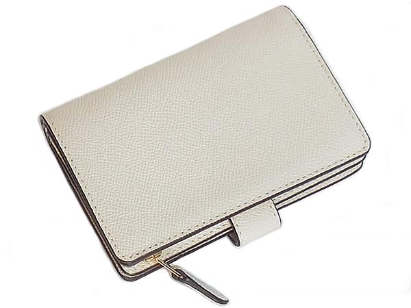 コーチ 二つ折り財布F73497白 背面