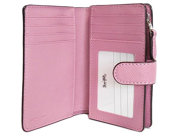 コーチ 二つ折り財布F73497ピンク カード入れ