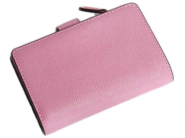 コーチ 二つ折り財布F73497ピンク 背面