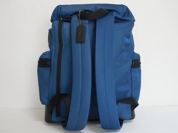 コーチ メンズ バックパックF71884青 背面