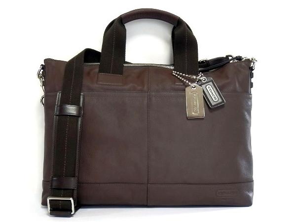 コーチ メンズ ビジネスバッグ70490茶色