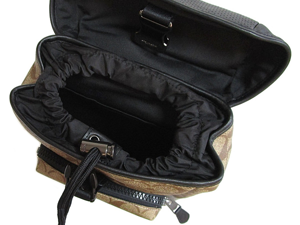 コーチ メンズ ボディバッグ1909カーキ黒 内装