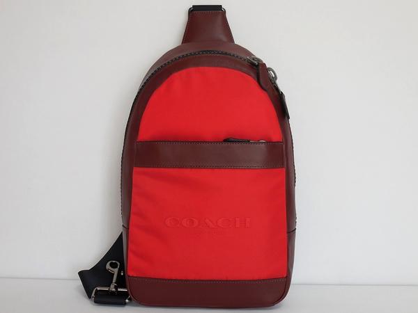コーチ メンズ ボディバッグF59320赤