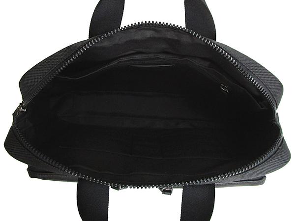 コーチ メンズ ブリーフケース5665黒グレー 内装