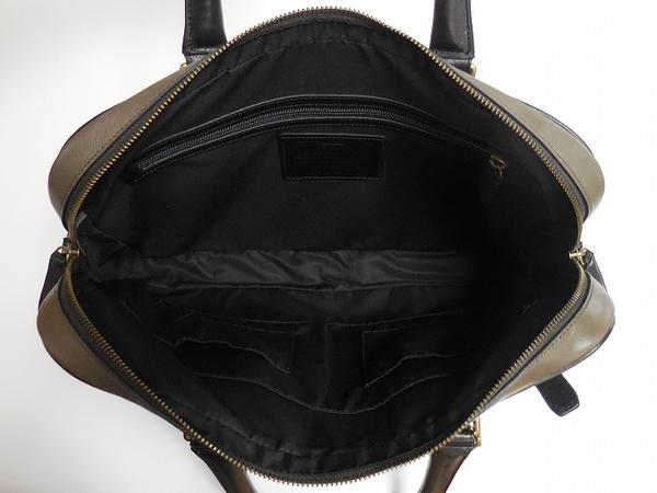 メンズ ブリーフケース71012グレー×黒 荷室