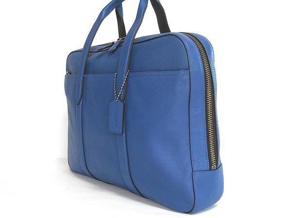 コーチ メンズ ビジネスバッグ72318青 側面