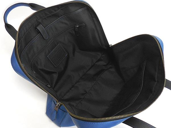 コーチ メンズ ビジネスバッグ72318青 荷室