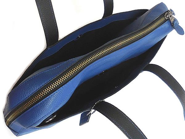 コーチ メンズ ビジネスバッグ72318青 外ポケット