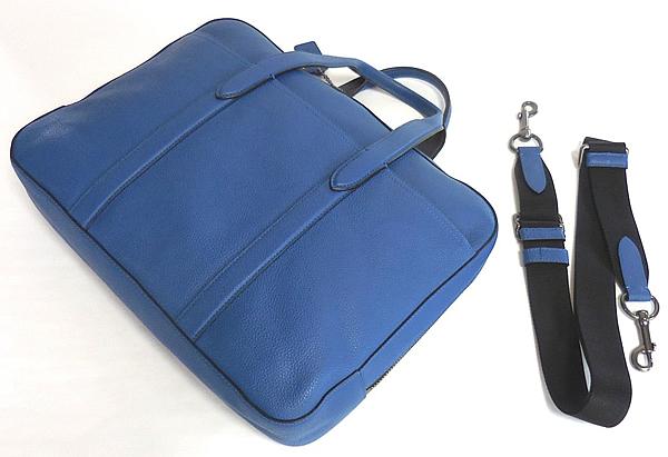 コーチ メンズ ビジネスバッグ72318青 背面