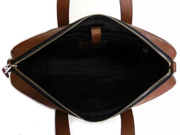 コーチ メンズ ブリーフケースF22529茶色 荷室