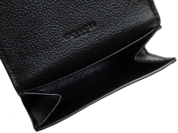 コーチ 財布 小銭入れF75024黒 コインポケット
