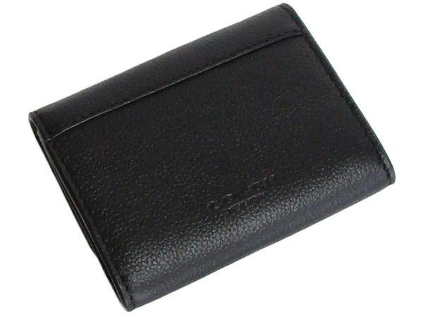 コーチ 財布 小銭入れF75024黒 背面