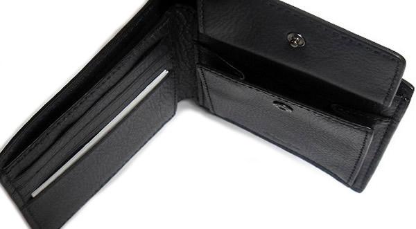 コーチ メンズ 二つ折り財布F75137紺 小銭入れ