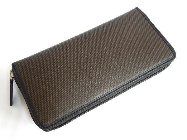 メンズ長財布F74811茶色 背面