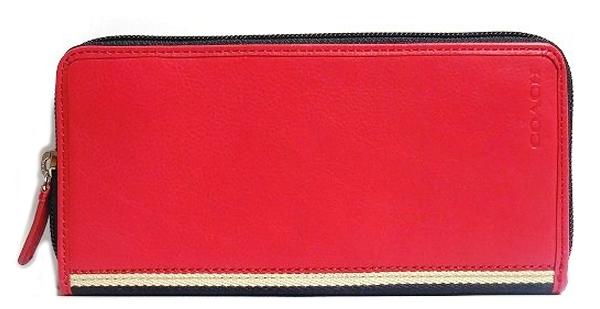 コーチ メンズ長財布F74378赤