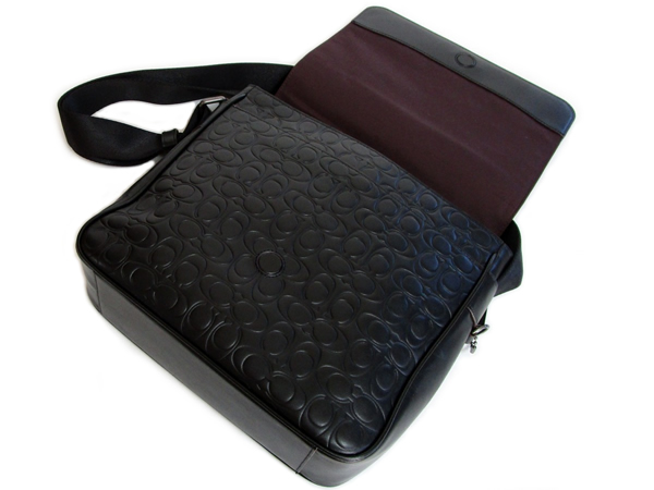 コーチ メンズ 斜めがけバッグ32223黒 内装
