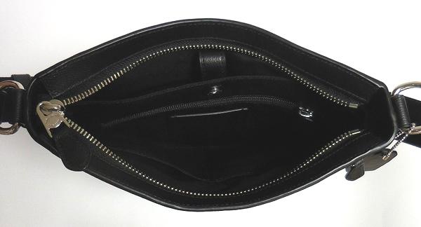 コーチ メンズ 斜めがけバッグF54780黒 荷室