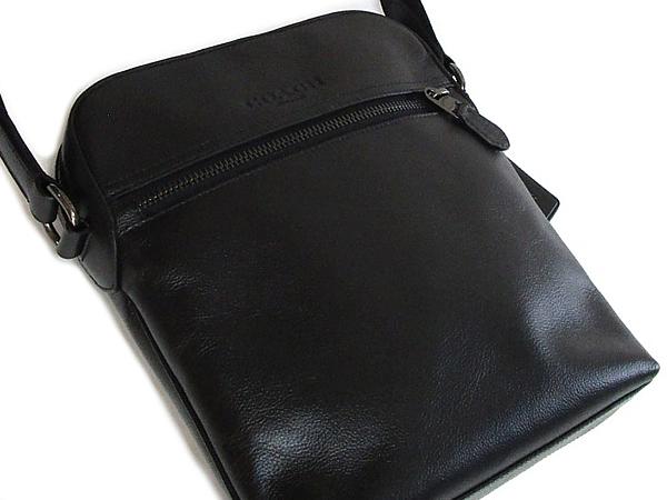コーチ メンズ ショルダーバッグF68014黒 前ポケット