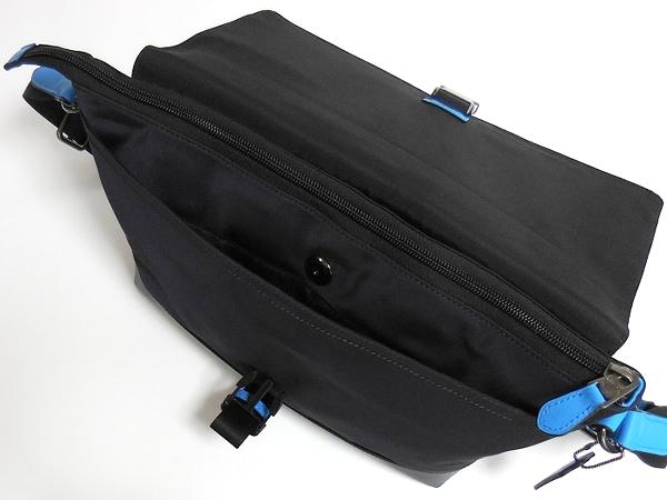 メンズ 斜めがけバッグF71968青×紺 内装