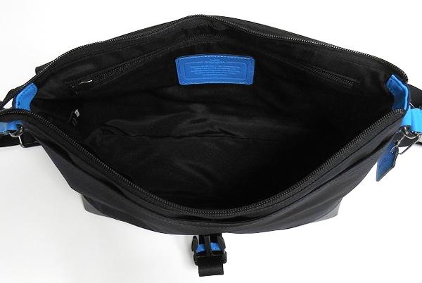 メンズ 斜めがけバッグF71968青×紺 荷室