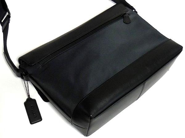 コーチ メンズ 斜めがけバッグF71968黒 背面