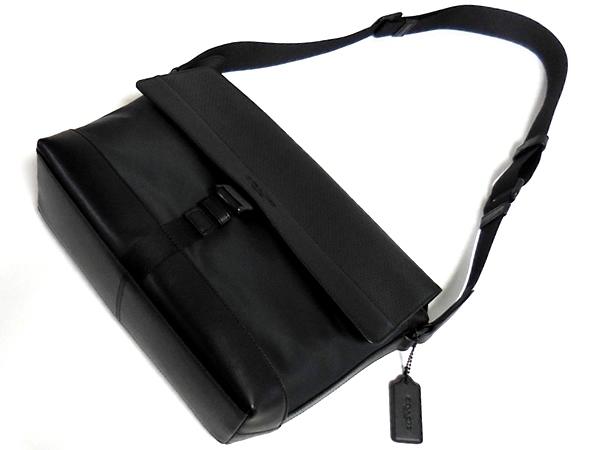 コーチ メンズ 斜めがけバッグF71968黒 前面