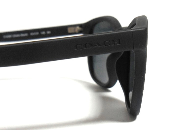 コーチ メンズ サングラスL807黒 COACH刻印