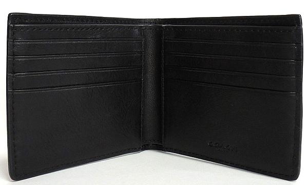 コーチ メンズ二つ折り財布26058黒 カード入れ
