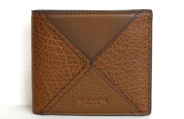 コーチ メンズ 二つ折り財布57698茶色