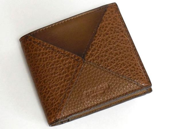 コーチ メンズ 二つ折り財布57698茶色 前面
