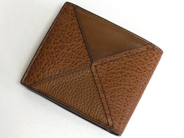 コーチ メンズ 二つ折り財布57698茶色 背面