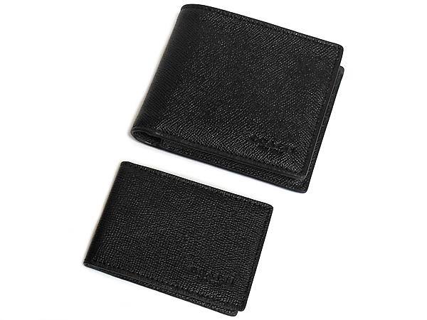コーチ メンズ F59112黒 パスケースと財布 前面