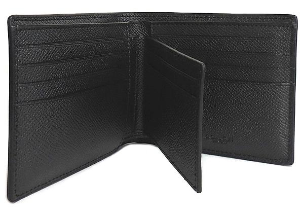 コーチ メンズ F59112黒 パスケースと財布 連結