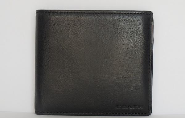 コーチ メンズ二つ折り財布74314黒