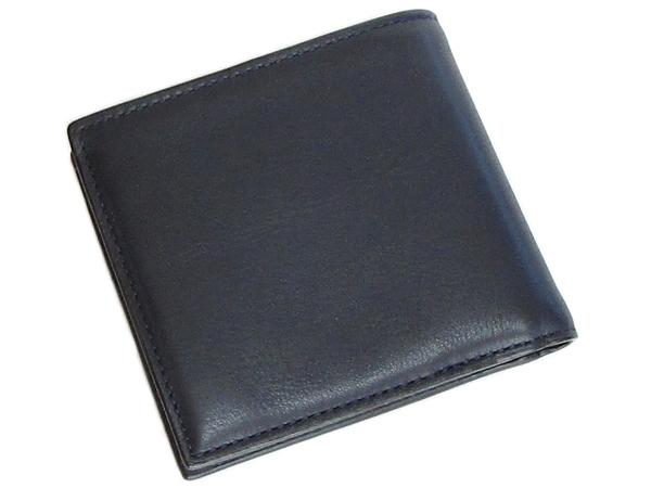 コーチ メンズ 二つ折り財布79160濃紺 背面