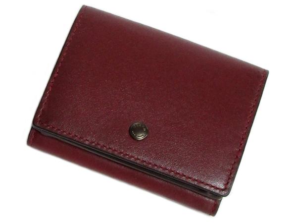 コーチ 三つ折り財布89132赤紫 前面