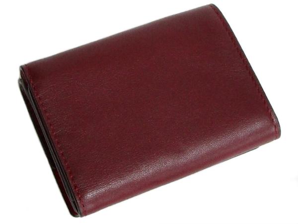 コーチ 三つ折り財布89132赤紫 背面