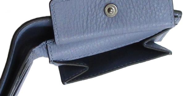 コーチ 二つ折り財布C3422水色 小銭入れ